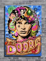 THE DOORS - JIM MORRISON - Psycodelic art canvas print - self adhesive poster - photo print